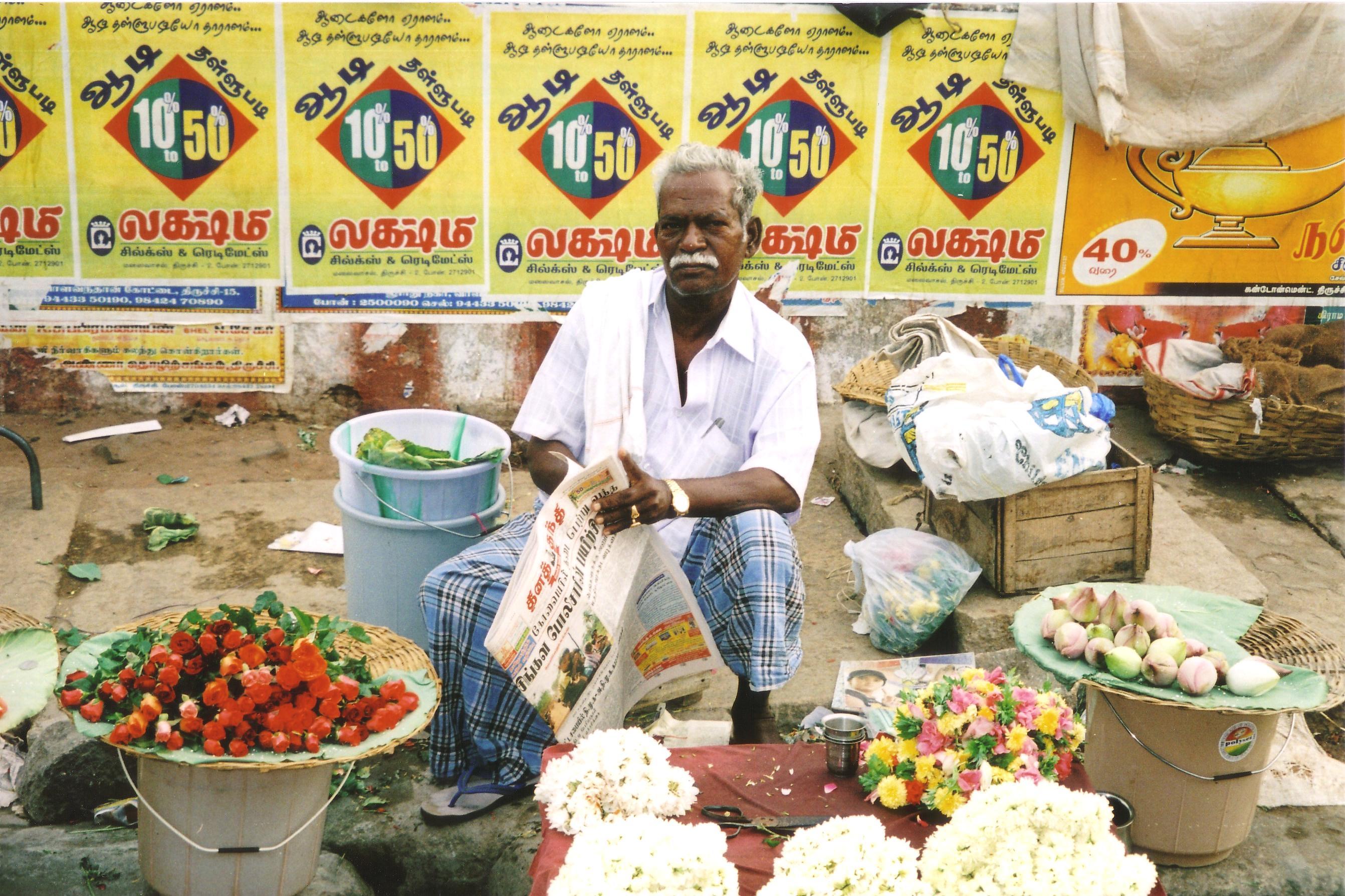 trichy garland seller